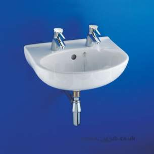 Armitage Shanks Commercial Sanitaryware -  Armitage Shanks Portman S2220 500mm 2th Basin And O/f And Chn Wh Special