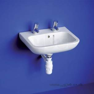 Armitage Shanks Commercial Sanitaryware -  Armitage Shanks Portman 21 Basin 50cm White Of Plus Chn 2th