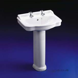 Ideal Standard Classic -  Ideal Standard Reflections E4481 560mm Two Tap Holes Semi-countertop Basin Wh