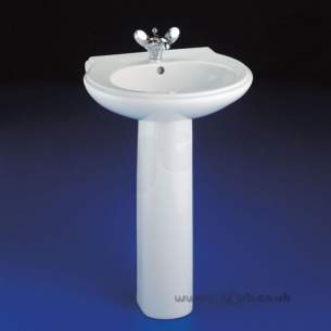 Armitage Shanks Luxury Sanitaryware -  Armitage Shanks Accolade S2117 580mm One Tap Hole Basin White