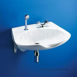 Armitage Shanks Commercial Sanitaryware -  Armitage Shanks Salonex S230001 610mm Two Tap Holes Basin Wh