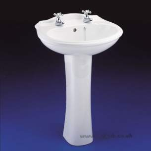 Armitage Sandringham Select -  Armitage Shanks Sandringham Classic S2033 560mm Two Tap Holes Basin Wh
