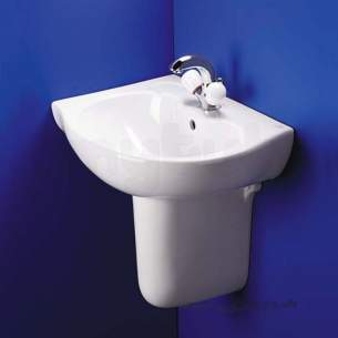 Ideal Standard Space -  Ideal Standard Space E6131 Two Tap Holes Right Hand O/set Corner Basin Wh