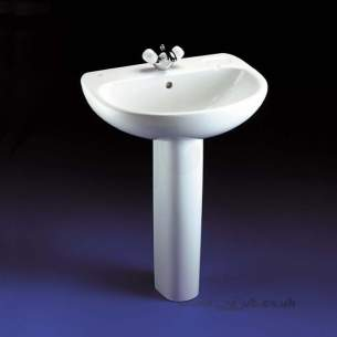 Ideal Standard Studio -  Ideal Standard Studio 560mm Two Tap Holes Basin White
