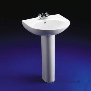 Armitage Entry Level Sanitaryware -  Armitage Shanks Tiffany S2083 560mm Two Tap Holes Basin Wh Special