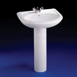 Armitage Camargue -  Armitage Shanks Camargue S2024 560mm Two Tap Holes Basin Wh Special