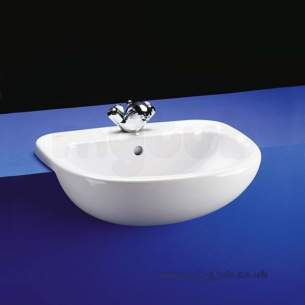 Ideal Standard Studio -  Ideal Standard Studio E2000 560mm One Tap Hole Semi-countertop Basin Wh