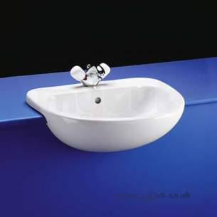 Ideal Standard Studio -  Ideal Standard Studio E1830 560mm B/n One Tap Hole Semi-countertop Basin Wh