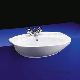 Armitage Entry Level Sanitaryware -  Tiffany S243101 560mm 1th Semi-countertop Basin Wh Replica