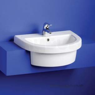 Ideal Standard Washpoint -  Ideal Standard Washpoint R4124 One Tap Hole S/c 55cm Basin Wh