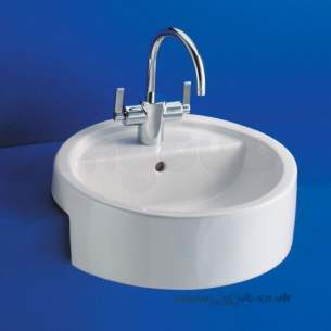 Ideal Standard Luxury -  Ideal Standard White E0014 One Tap Hole Semi-countertop Basin White