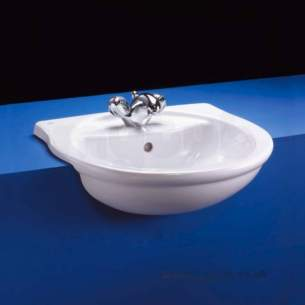 Ideal Standard Alto -  Ideal Standard Alto E7585 550mm 1th Semi-countertop Basin White
