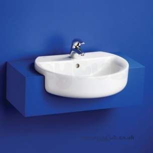 Ideal Standard Concept -  Ideal Standard Sphere E792101 550mm 1th Semi-countertop Basin White