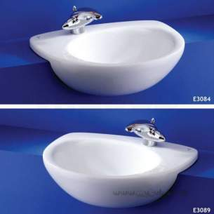 Ideal Standard Create -  Ideal Standard Drift E3084 550 X 460 1th Rh Semi-countertop Basin Wh