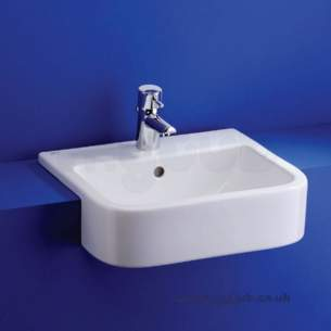 Ideal Standard Create -  Ideal Standard Square E3102 500 X 450mm 1th Semi-countertop Basin Wh