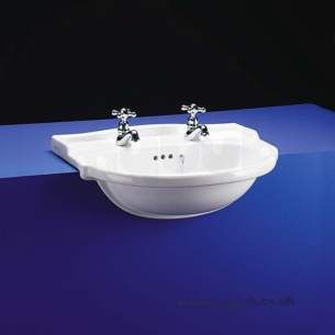 Armitage Shanks Mid Range Sanitaryware -  Armitage Shanks Lichfield S2465 1th S/c Washbasin Wh