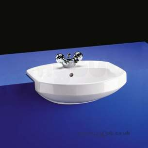 Armitage Vanity Basins -  Armitage Shanks Profile S2441 505mm 1th Semi-countertop Basin Wh