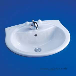 Ideal Standard Alto -  Ideal Standard Alto R4108 560mm One Tap Hole Vanity Basin White