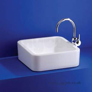 Ideal Standard Luxury -  Ideal Standard White Cube E0036 400 X 400mm Vessel Basin Wh