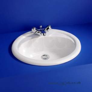 Armitage Camargue -  Armitage Shanks Camargue S2678 500mm One Tap Hole Countertop Basin Wh