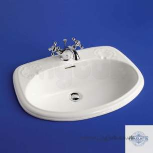 Ideal Standard Art and Design -  Ideal Standard Charlotte S2660 Ctp 590mm One Tap Hole Basin White