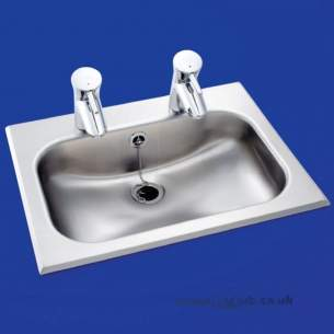 Armitage Shanks Commercial Sanitaryware -  Armitage Shanks Berwick2 Ctp Basin 49x38 Pol S/s 2th