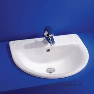 Ideal Standard Create -  Ideal Standard Edge E3073 500 X 430mm Two Tap Holes C/t Basin White