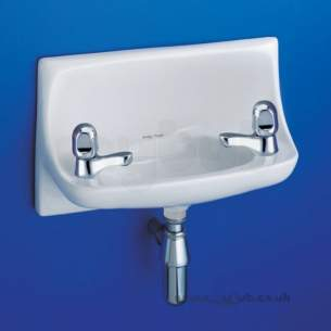 Armitage Shanks Commercial Sanitaryware -  Armitage Shanks Handrinse S272101 Right Hand Taphole Basin Wh