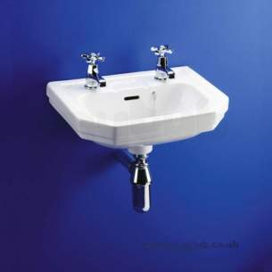 Ideal Standard Classic -  Ideal Standard Plaza E3810 450mm Two Tap Holes Basin White