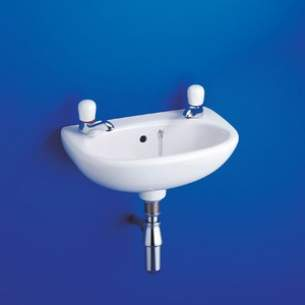 Ideal Standard Studio -  Ideal Standard Studio E1170 350mm Two Tap Holes Basin White