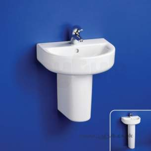 Ideal Standard Concept -  Ideal Standard Arc E796601 H/r 1th Basin 450mm White