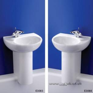 Ideal Standard Create -  Ideal Standard Drift E3083 450 X 380 One Tap Hole Right Hand H/r Basin Wh