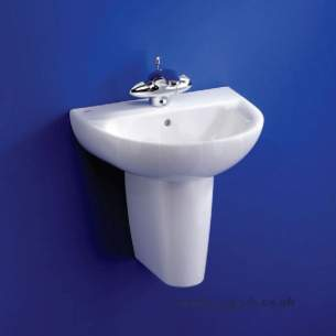 Ideal Standard Create -  Ideal Standard Edge E3045 450 X 360mm One Tap Hole H/r Basin White