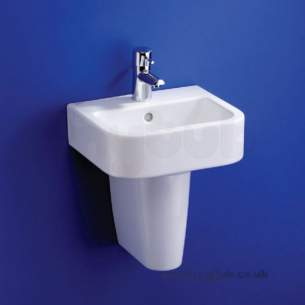 Ideal Standard Create -  Ideal Standard Square E3101 400 X 360 One Tap Hole H/r Basin White