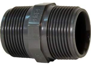 Georg Fischer Pvc Fittings 1 and Below -  Georg Fischer Upvc Hexagon Nipple 219119 3/8 721911905