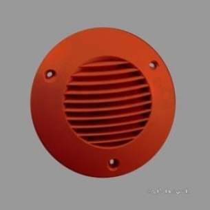 Kane International Combustion Test Equip -  Icon Rnd Ext Grille 100mm Terracotta