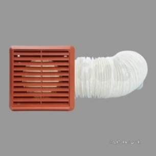 Kane International Combustion Test Equip -  Icon Flexible Duct Kit 150mm Terracotta