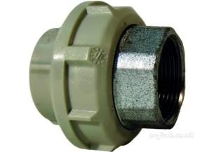 Georg Fischer Pp Tube and Fittings Metric -  Georg Fischer Pp Adaptor Union 727530310 50x1.1/2