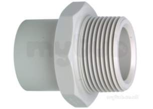 Georg Fischer Pp Tube and Fittings Metric -  Georg Fischer Pp Adpt Nipple 279105 25x3/4