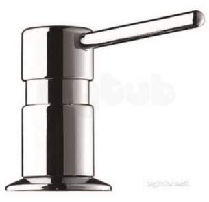 Delabie Dispensers -  Delabie Soap Dispenser Straight Spout 1l Bottle Chromed Brass