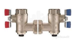 Delabie Accessories and Miscellaneous -  Delabie 2 X Angled Isolating Ball Valve For Premix 1 Inch