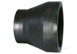Georg Fischer Black Electrofusion Pe Fittings -  Georg Fischer Pe B/fus Reducer Isos5/sdr11 400x355 753900019