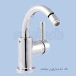 Twyfords Commercial Brassware -  Siron Side Lever Bidet Mono Plus Push Waste Sn5536cp