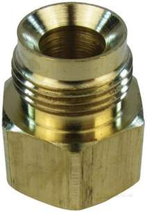 Andrews Water Heater Spares -  Andrews E016 Gas Valve Brass Adapter