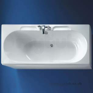 Ideal Standard Acrylic Baths -  Ideal Standard Linda 1800 X 800 No Tap Holes Acrylic Bath White