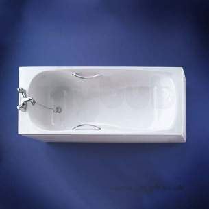 Armitage Shanks Acrylic Baths -  Armitage Shanks Oregon S1186 1700 X 750mm Nth Bath Wh