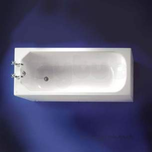 Ideal Standard Acrylic Baths -  Ideal Standard Plaza E1478 1700 X 700mm No Tap Holes Bath White