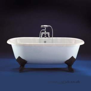 Ideal Standard Acrylic Baths -  Ideal Standard Idealcast 1700 Roll Top Bath And Feet White