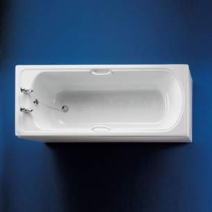 Armitage Shanks Acrylic Baths -  Armitage Shanks Seville S1673 1700mm Two Tap Holes Bath Wh