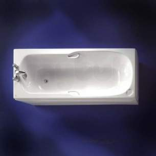 Ideal Standard Acrylic Baths -  Ideal Standard Studio 1700 X 700 Two Tap Holes Bath Plus Clr Grp White